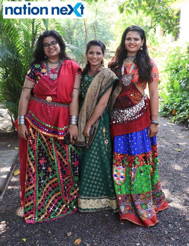 Jaytika Joshi, Sakina Turkey and Punam Kotewar during 'Ras Garba' held at LAD college in Nagpur