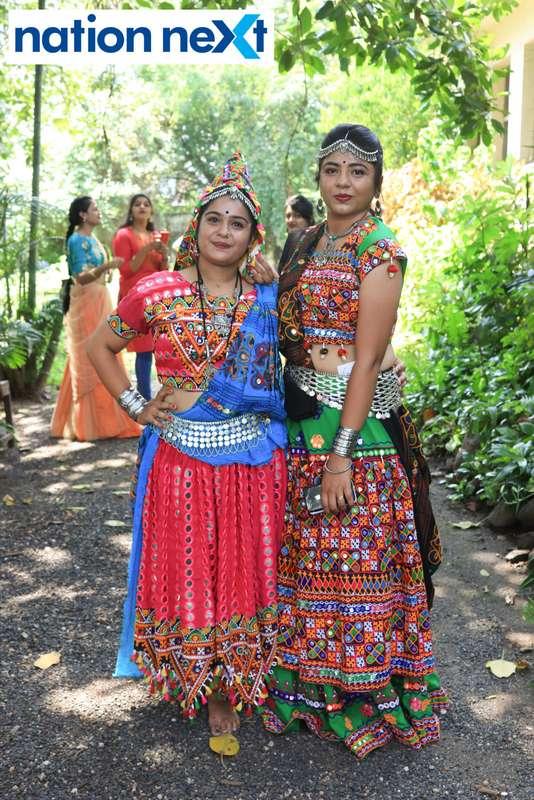 Kajal Kewalramani and Meera Bariya during 'Ras Garba' held at LAD college in Nagpur