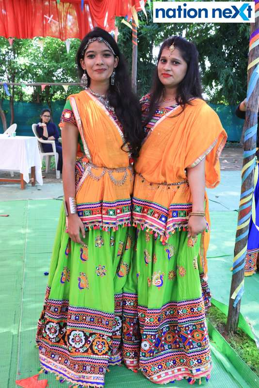 Sanskriti Sinha and Bhakti Rawtal during 'Ras Garba' held at LAD college in Nagpur