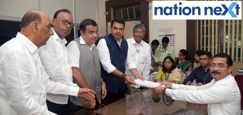 Maharashtra Chief Minister Devendra Fadnavis filed his nomination papers for the upcoming state assembly polls due on October 21.