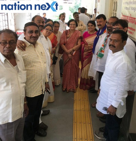 Congress leaders Girish Pandav and Vikas Thakre, in the presence of party leaders, filed their nomination papers today morning.