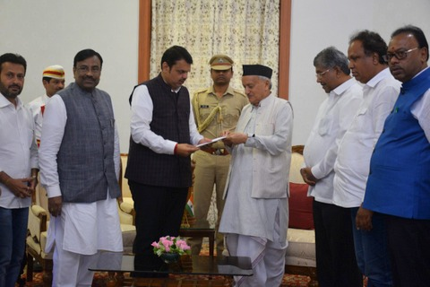 Chief Minister of Maharashtra Devendra Fadnavis tendered his resignation as the CM to Governor of Maharashtra Bhagat Singh Koshyari today afternoon.