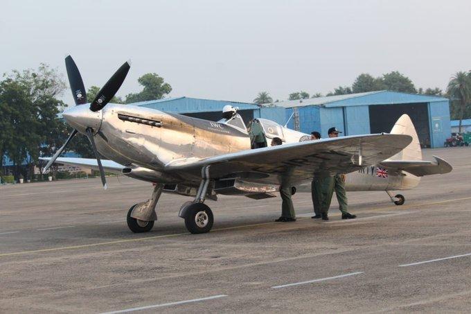 Silver Spitfire at Air Force Station at Sonegaon in Nagpur