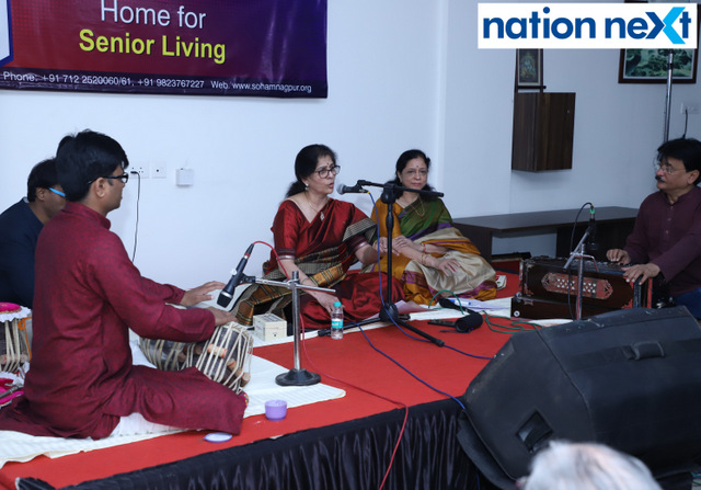 Senior citizens at SOHAM enjoyed musical renditions by renowned singer Meenal Bhide at the musical evening 'Aaj Ki Shyam Soham Ke Naam.'