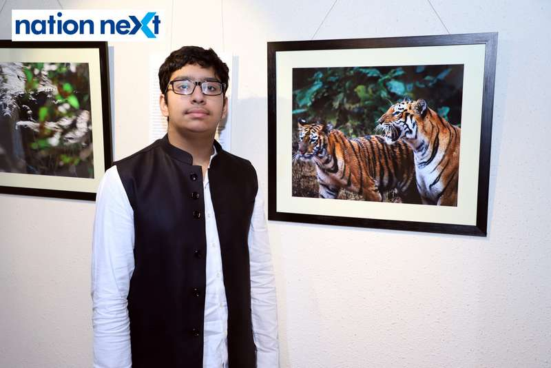 Ameya Kulkarni at the exhibition held at Darda Art Gallery in Nagpur