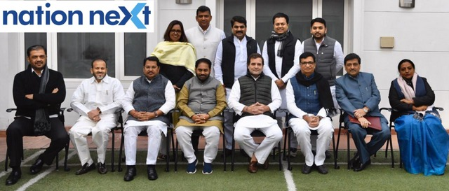 The newly inducted 12 Congress ministers of Maharashtra in the Maha Vikas Aghadi met Congress leader Rahul Gandhi on Tuesday at his New Delhi residence.