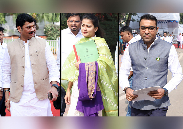 A sneak peek into the third day of the ongoing winter session of the Maharashtra Legislature that is being held in Nagpur.