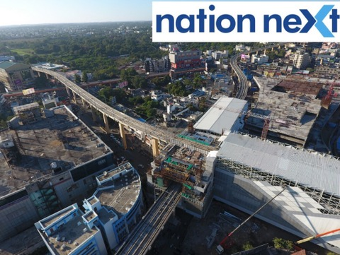 Check out the aerial view of Nagpur Metro's Sitabuldi Interchange Station located at Munje Chowk in Nagpur captured by a drone camera.