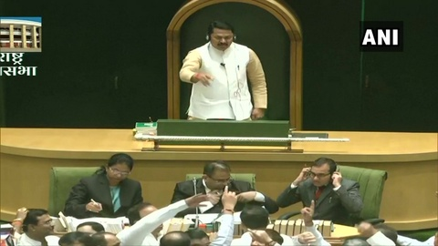 Speaker Nana Patole, on the second day of Maharashtra Assembly, was forced to adjourn House after BJP, Shiv Sena MLA indulge in a scuffle.