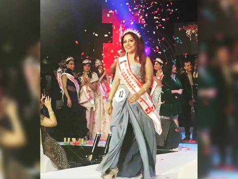 Nagpur woman Ronita Sengupta bagged the title of first runner up at Jeeo King and Queen's Mrs India International 2019 contest.