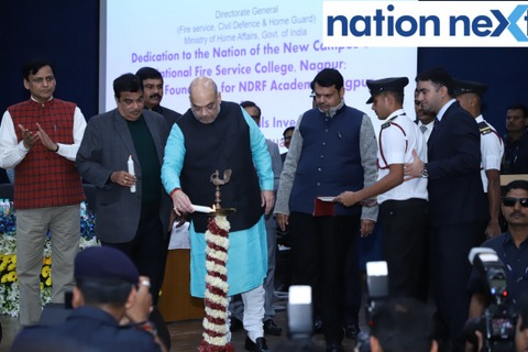 Home Minister of India Amit Shah inaugurated the new campus of NationalFire Service College in Nagpur in the presence of Union Minister Nitin Gadkari.
