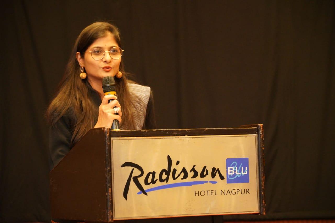 Priyanka Kothari during 'Kalam - Apni Bhasha, Apne Log' held at Hotel Radisson Blu in Nagpur