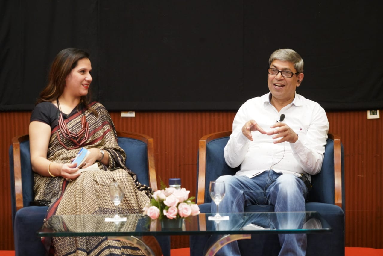 Jyotika Kapoor and Ratneshwar Singh during 'Kalam - Apni Bhasha, Apne Log' held at Hotel Radisson Blu in Nagpur