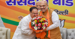 Working president of the BJP Jagat Prakash (JP) Nadda was elected unopposed as the National President of the BJP on Monday in New Delhi.