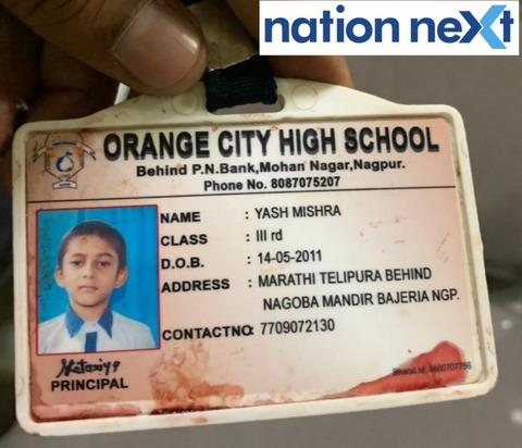 An 8-year-old named Yash Mishra got crushed under the wheels of his school bus (MH 40 BL 3620) today evening (January 10) at Bajeria in Nagpur.