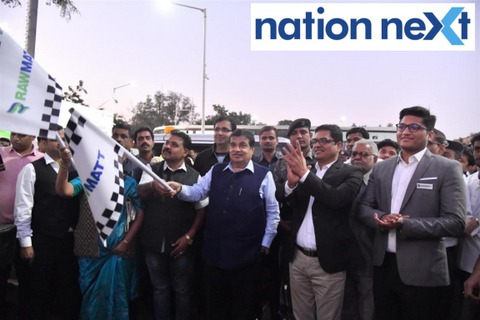 Nitin Gadkari during inauguration of the second CNG station by Rawmatt Industries situated at Wadi in Nagpur