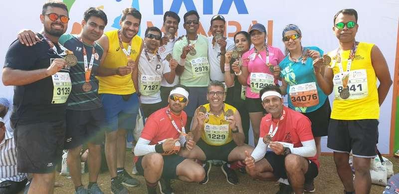 Members of OCRS at Tata Mumbai Marathon
