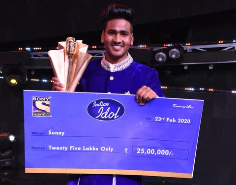The season's all time favourite contestant from Punjab Sunny Hindustani emerged as the winner of Indian Idol 11 on Sunday evening.