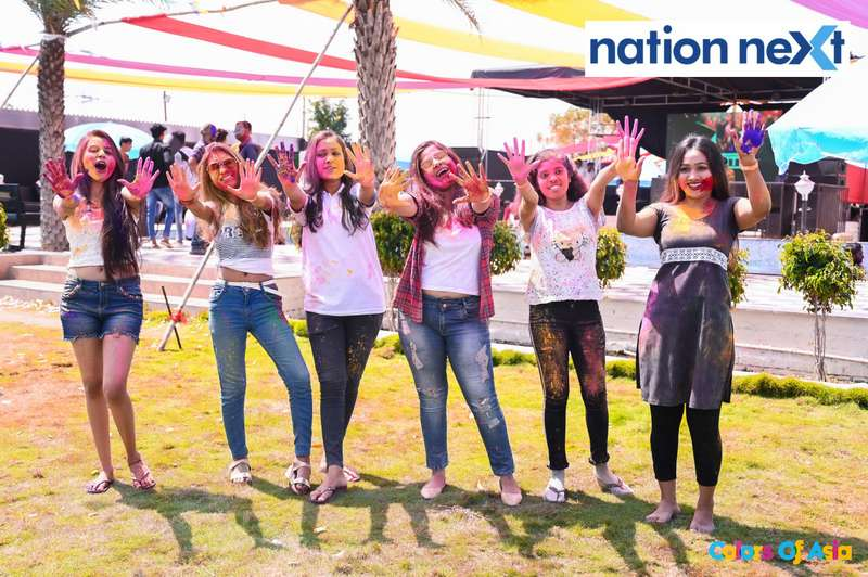 Party revellers had a gala time at Colours of Asia Holi bash organised by One Pie Events in association with Nation Next as the media partner in Nagpur.