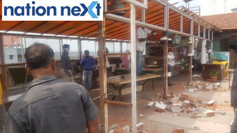 NMC demolished rooftop restaurant Aangan Gajali Family Restaurant and Bar situated near Hingna T Point under the guidance of Commissioner Tukaram Mundhe.