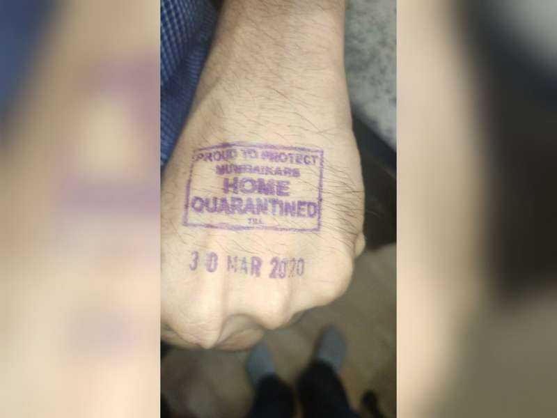 Maharashtra Government on Monday announced that all the people who are home quarantined because of coronavirus pandemic will be stamped on the left hand.