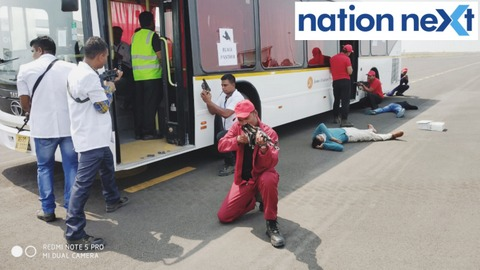 Nagpur Police conducted a mock drill 'Anti Hijack Mock Exercise' that lasted for one hour 20 minutes at Dr Babasaheb Ambedkar International Airport.