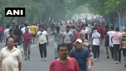 Despite the imposition of Section 144 in Nagpur, citizens were spotted exercising after the state declared a shutdown on all the gyms until March 31.