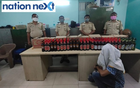 Nagpur Police arrested man for allegedly selling alcohol stored in mineral water cartons from his pharmacy in Ganeshpeth area on Wednesday.