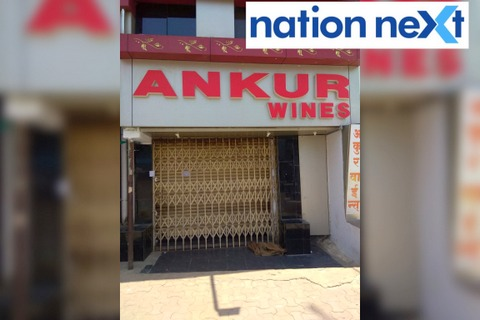 State excise department temporarily sealed prominent wine shop in Dharampeth – Ankur Wines – on Monday evening after the sale of over-the-counter liquor.