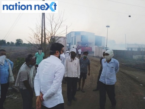Massive fire broke out at Daan Ginning Pressing at Ghogra in Narkhed taluka in Nagpur district leaving one worker aged 39, dead.