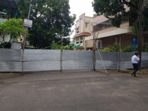 NMC, on Thursday, sealed an area in Bajaj Nagar and declared it containment zone as part of its drive to contain spread of COVID-19.