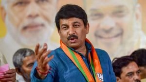 Delhi BJP Chief and MP Manoj Tiwari was detained by Delhi Police on Monday while he was protesting against Kejriwal government at Rajghat.